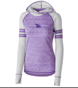 Holloway - LADIES ADVOCATE HOODIE with a 6-Color screen print Across the Front Center